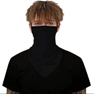 Black Unisex Reusable Face Mask Bandana